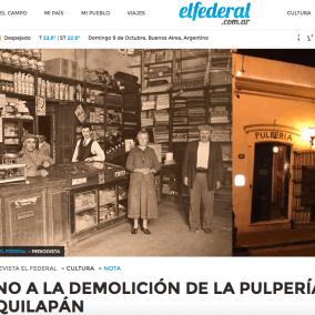"""<span class=""""live-editor-title live-editor-title-24356"""" data-post-id=""""24356"""" data-post-date=""""2016-10-09 11:37:13"""">NO A LA DEMOLICIÓN DE LA PULPERÍA QUILAPÁN por El Federal</span>"""