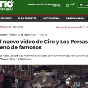"""<span class=""""live-editor-title live-editor-title-26762"""" data-post-id=""""26762"""" data-post-date=""""2017-09-12 11:50:38"""">El nuevo video de Ciro y Los Persas lleno de famosos</span>"""