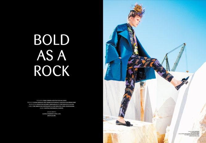 BOLD AS A ROCK