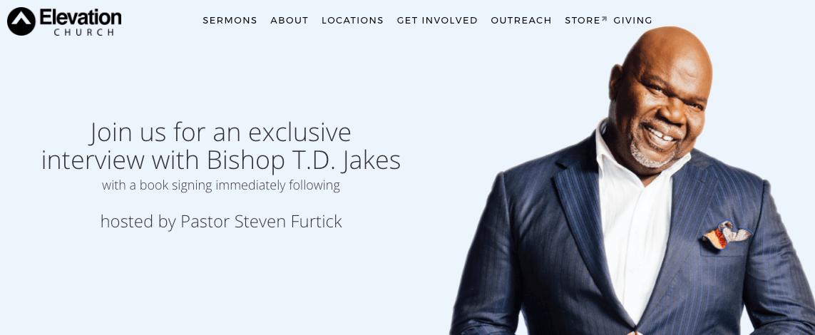 Steven Furtick to Host Anti-Trinitarian Prosperity Preacher, TD Jakes