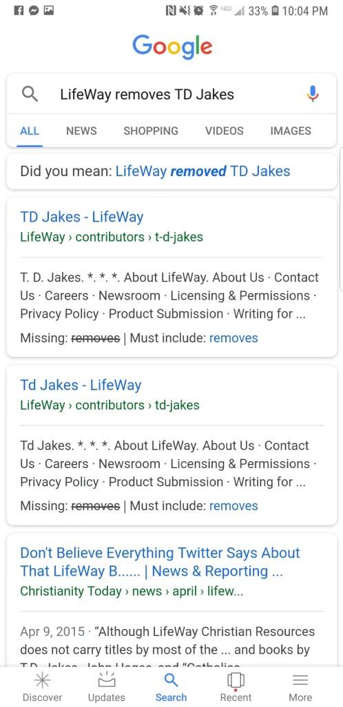 LifeWay Quietly Drops TD Jakes