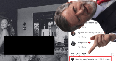 "Jerry Falwell Jr. ""Likes"" Instagram Photo of Half-Naked Model"