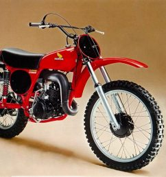 by 1976 the cr250 was already falling far behind its 250 competition major suspension upgraded on the rm and yz left the short legged cr in their wake  [ 1024 x 831 Pixel ]