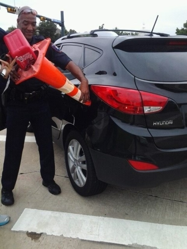 When this cop helped a driver who was out of gas.