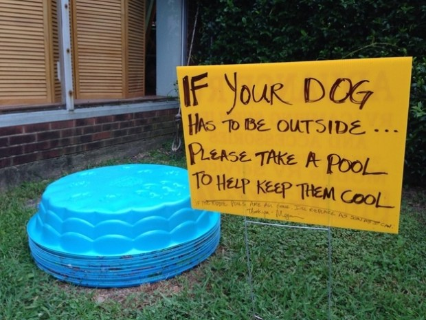 And this person put this outside their house on a particularly hot day.