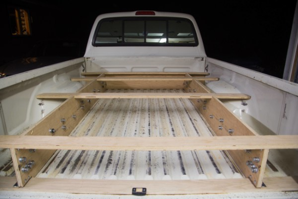 First He Began By Creating The Frame And Placing Ball Bearings In Bed Of Truck