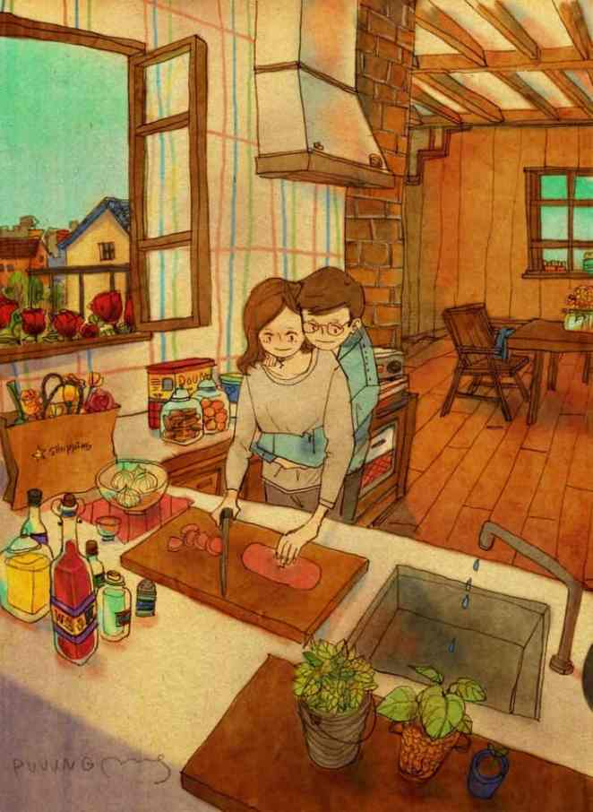 Korean Artist Beautifully Illustrates What Real Love Looks Like - Cute illustrations demonstrate what true love really is