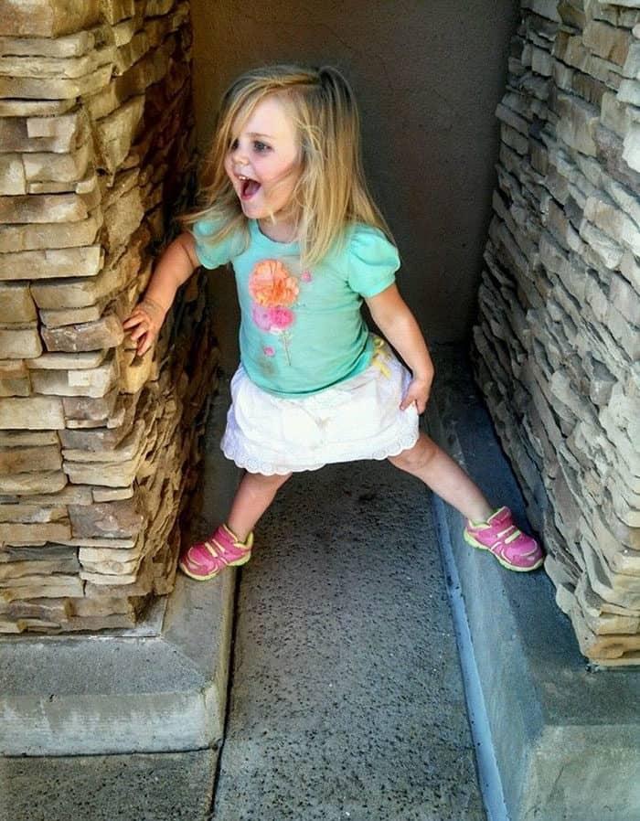 A Three Year Old Girl