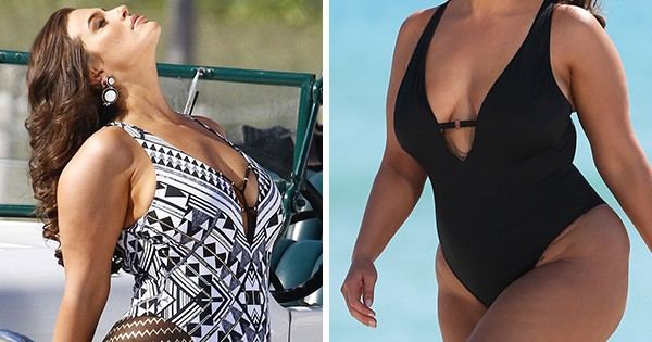 f5e7afee88255 Ashley Graham Fearlessly Uses Unedited Paparazzi Photos For Latest Swimsuit  Campaign