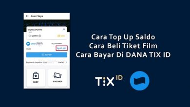 Cara Top Up Saldo DANA TIX ID
