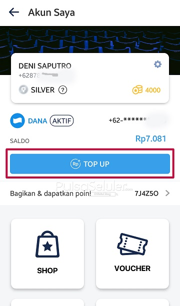Top Up TIX ID