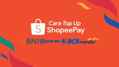 Cara isi Top Up ShopeePay Lewat Bank BCA, BRI, BNI dan Mandiri