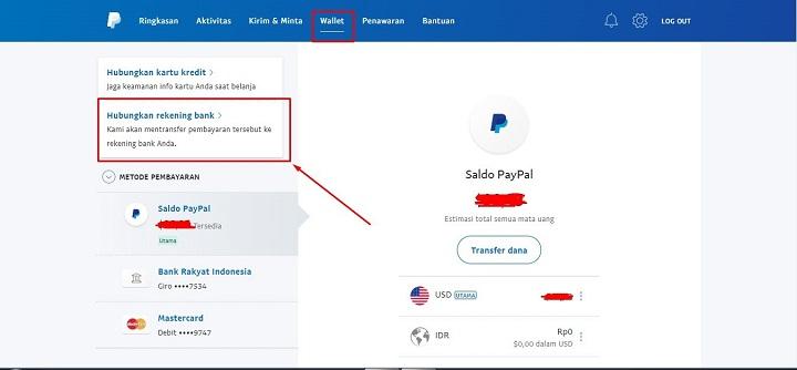 Hubungkan Rekening Bank DANA di PayPal