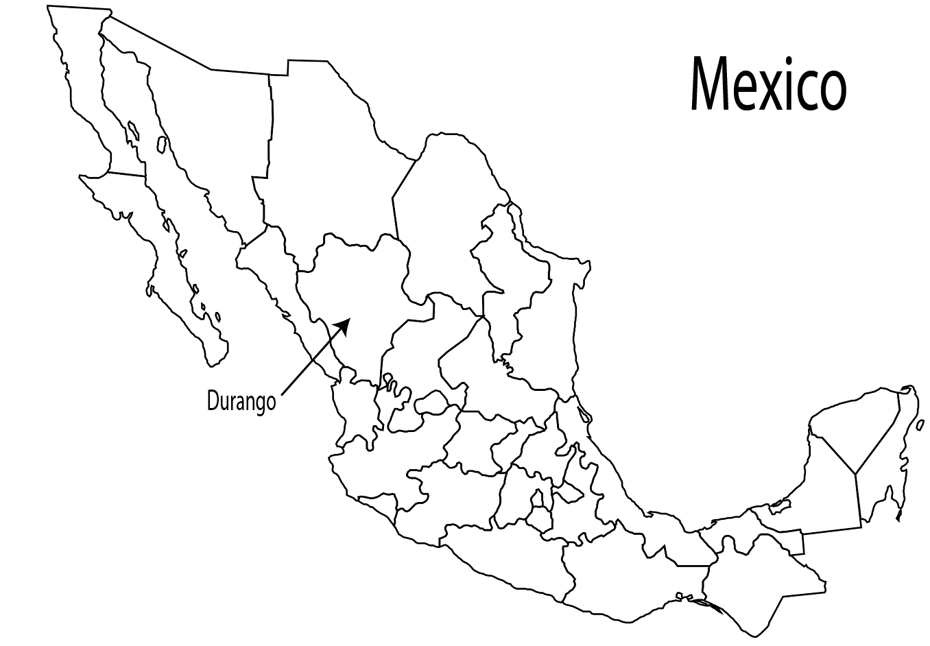Duranguense music is native to the Mexican state of Durango.