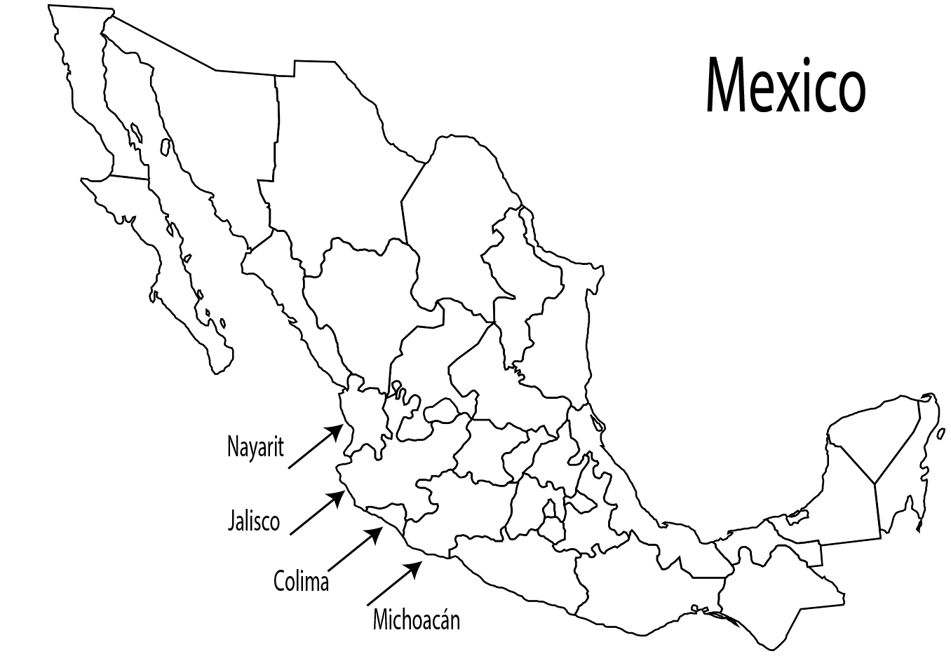 Mariachi music is native to the region of western states