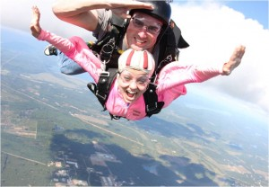 Nina skydiving