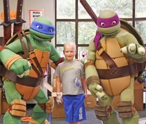 Ciaran With Ninja Turtles
