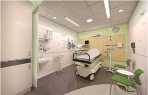 ED Exam Room: One of 38 exam rooms