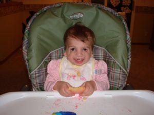Hannah as a baby