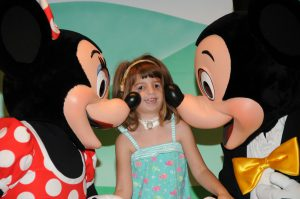 Hannah with Mickey and Minnie