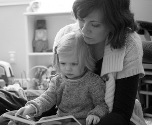 Onora and Mom Reading