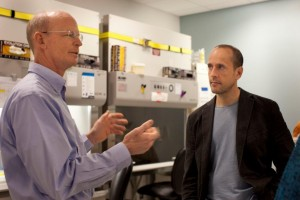 Dr. David Rawlings, left, and Dr. Andrew Scharenberg, right, have pioneered a gene editing technique that can kill and resist HIV.
