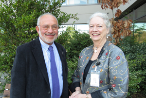 Dr. Ed Marcuse, left, and Ruth Benfield, right
