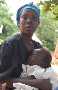 Uganda mom with baby