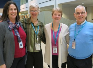 Meet the Intensive Feeding Program team (left to right): Peggy Smith, Kim Cooperman, Karen Quinn-Shea and Dr. Timothy Brei.