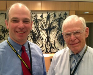 Dr. Jeff Ojemann with his dad, Dr. George Ojemann