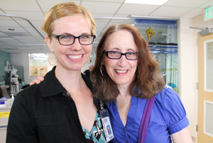 WITS poets Sierra Nelson (left) and Ann Teplick.