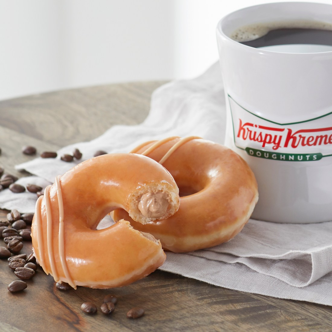 Krispy Kreme_s New Original Filled Coffee Kreme Doughnut