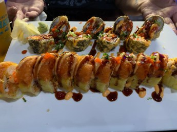 (Fire Cracker Roll & Sexy Lobster Roll.)