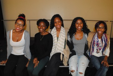 Caribbean Student Association representatives (left to right) Arielle Wharton, Justine Dawes, Shervaughnnie Hutchinson, Darien Ellis, and T'Keyah Newell