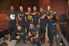 Alpha Phi Alpha poses for a picture