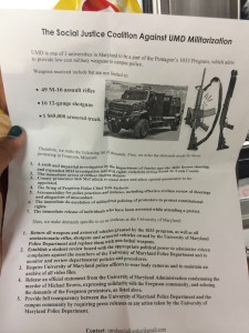 Flyers distributed during the protest. November 24,2014. (Lauryn Froneberger/Pulsefeedz)