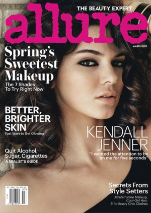 Kendall Jenner on the cover of Allure Magazine