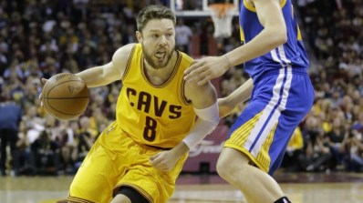 Dellavedova drives on his man in Game 3, courtesy of  The Sydney Morning Herald