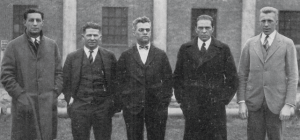 "H.C. ""Curley"" Byrd, center, with other UMD coaches in 1925. Courtesy: https://www.facilities.umd.edu"