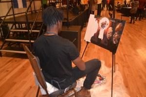 Painter Frank Abbott's event-inspired artwork.