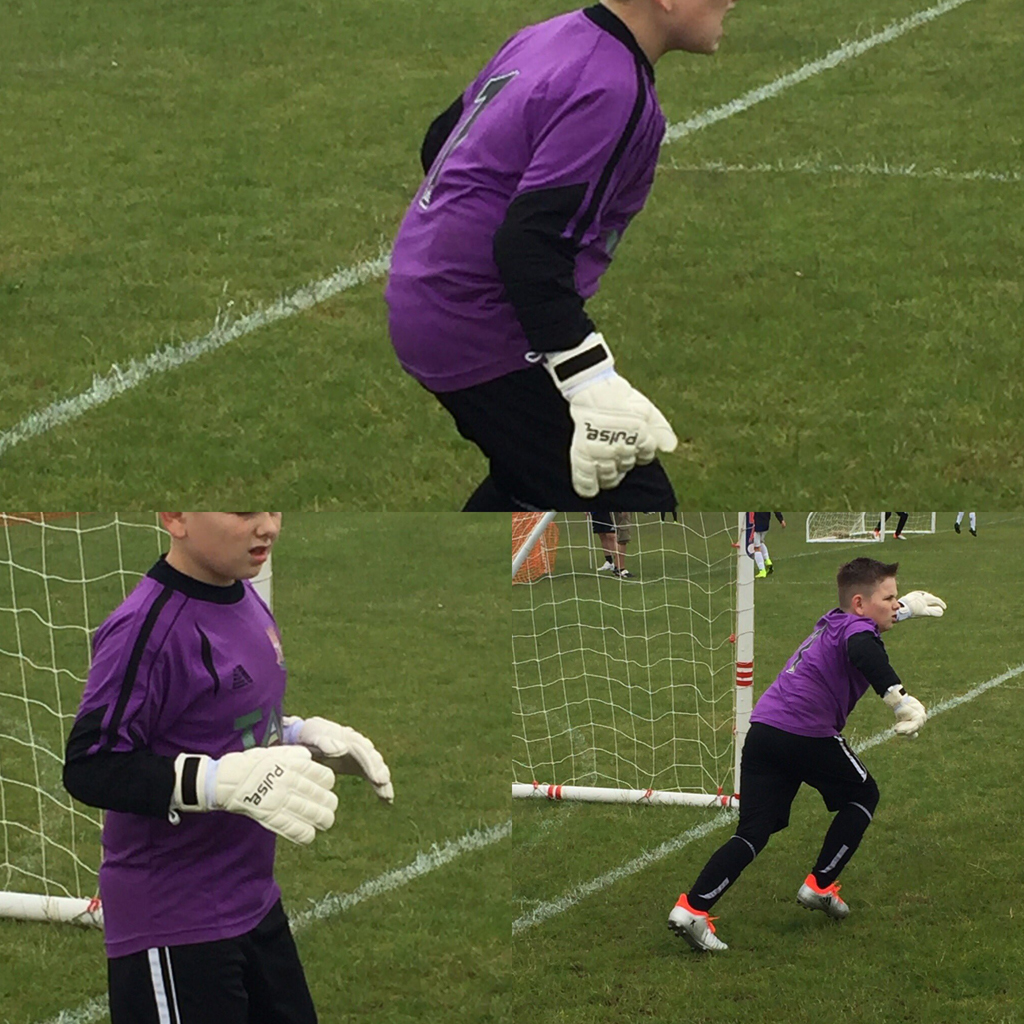 @lyns1975: Jordan's new gloves making a debut at Carterton tournament today.