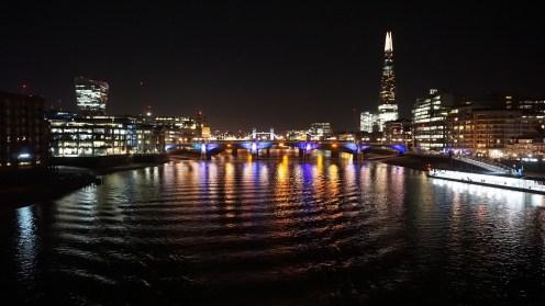 The view looking eastwards from Millennium Bridge