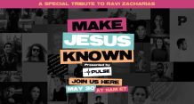 """Nick Hall, Go2020 USA to Host """"Make Jesus Known"""" Event Online to Celebrate the Life of Ravi Zacharias and Inspire Believers to Share the Gospel on May 30"""