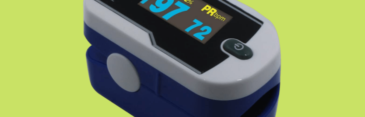 Deluxe Concord Dual Color OLED Display Fingertip Pulse Oximeter - Sapphire Blue