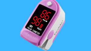 Facelake ® FL400 Pulse Oximeter with Carrying Case, Batteries, Neck/Wrist Cord - Pink