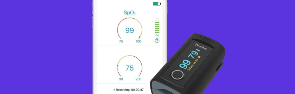 Wellue Fingertip Blood Oxygen Saturation Monitor with Bluetooth and Mobile Apps