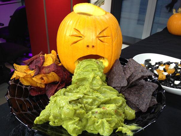 #7 Guacamole Puking Pumpkin