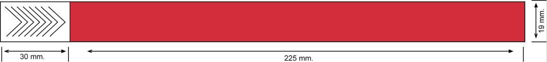 Tyvek 19 mm, rojo
