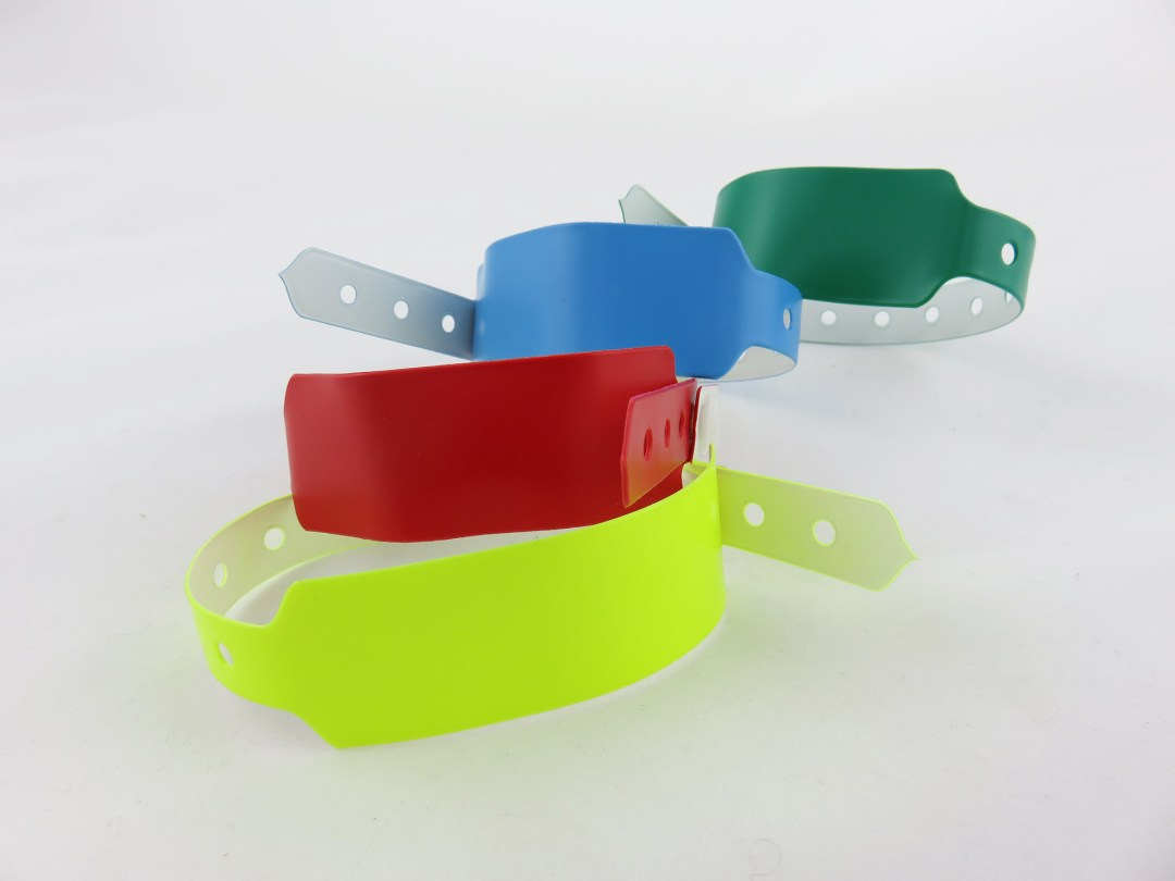 Pulseras de vinilo intransferibles