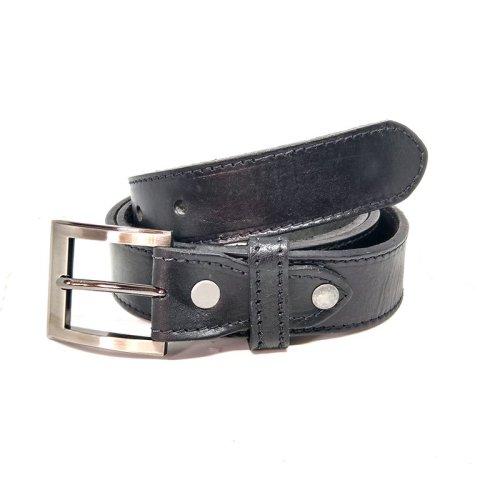 Cinto masculino de couro preto – Pulse